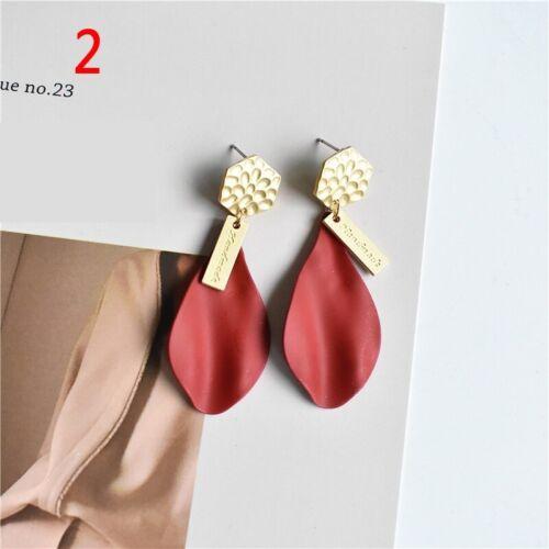 Femmes Fille Mode élégante Boucles d/'Oreilles Clous Émail Crochet Boucles d/'Oreilles cœur Bijoux