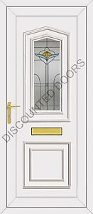 Johnson One UPVC Front Door, Frame, Letterbox & Spirit Glazed Panel