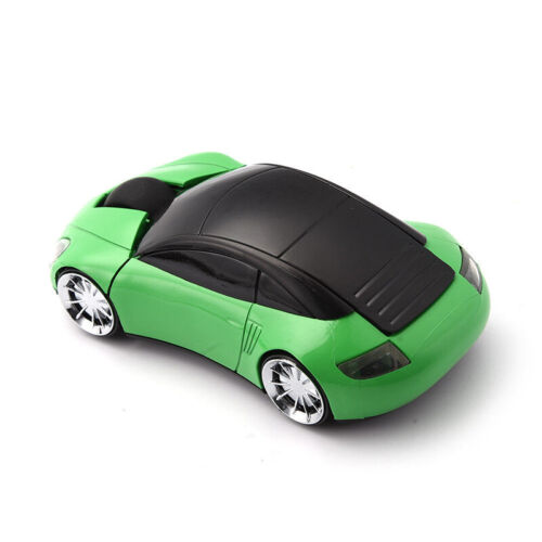 Car Shape 2.4Ghz Wireless Optical Mouse Gaming Mice/&USB Receiver For PC Laptop