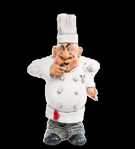 "7inch NEW The Comical World of Warren Stratford Figurine RV 38 /""Chef/"" 16cm"