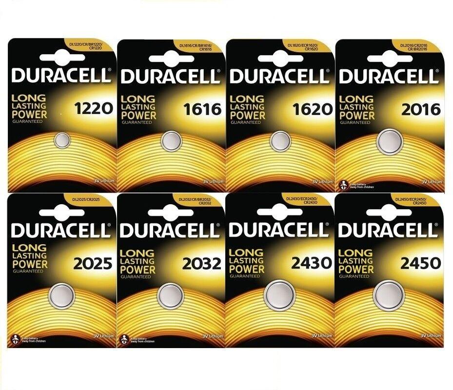 DURACELL Lithium Knopfzellen DL CR 1220 1216 1620 2016 2025 2032 2430 2450