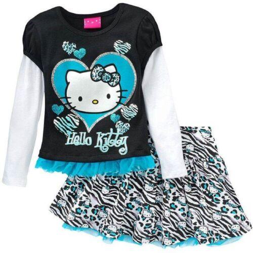 NEW Hello Kitty Girl Long Sleeve Top /& Skirt Set-Sz 4,5,6,6x-Ori $44