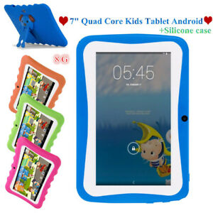 """7"""" HD 8GB Android4.4 Dual Camera 3G WIFI Tablet PC TF 64GB For Kids Bundled Case"""