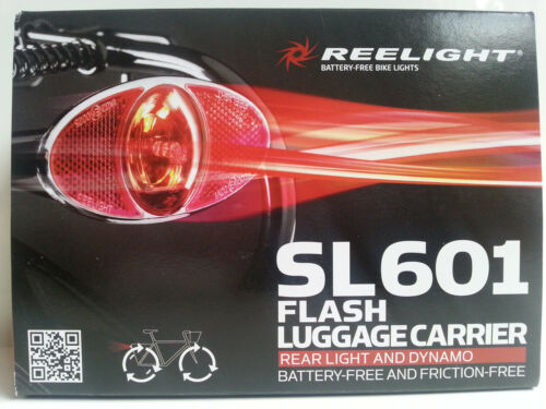 New Reelight SL601 flash luggage carrier rear bike bicycle light /& dynamo