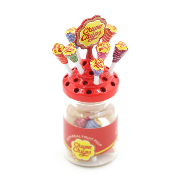 1:12 Dollhouse Miniature Simulation Food Mini Lollipop With Case Holder ATAU