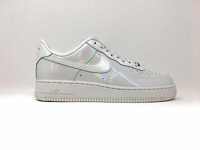 Nike Air Force 1 '07 LX Iridescent Hologram Mirror Summit White Women's 8 Shoes | eBay