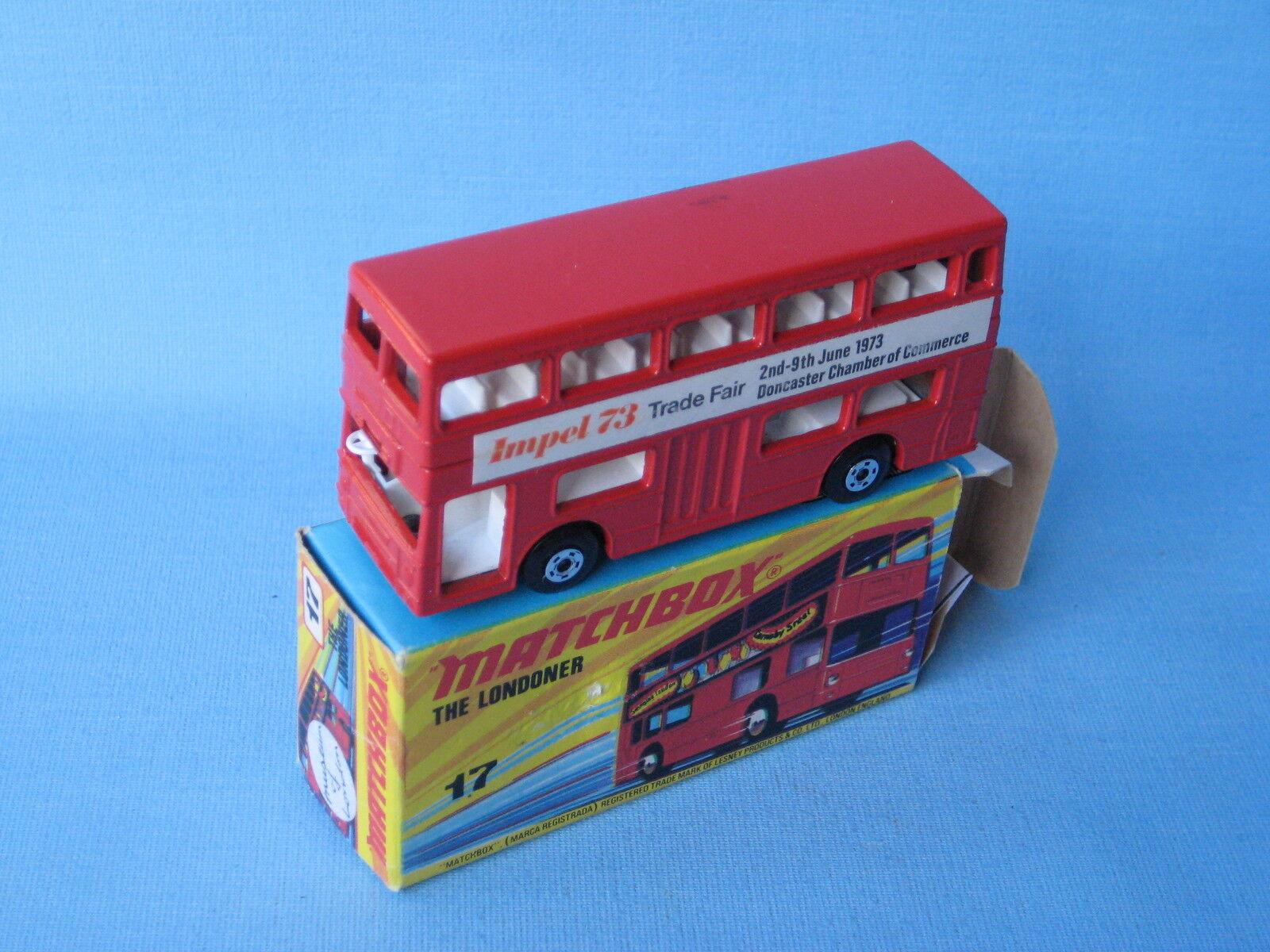 nuevo estilo Matchbox SF-17 londinense Bus Impel 73 1973 1973 1973 Promo En Caja Juguete Modelo 75mm  grandes precios de descuento