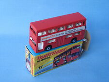 MATCHBOX sf-17 Londinese Bus Impel 73 1973 promo in scatola giocattolo modello 75mm