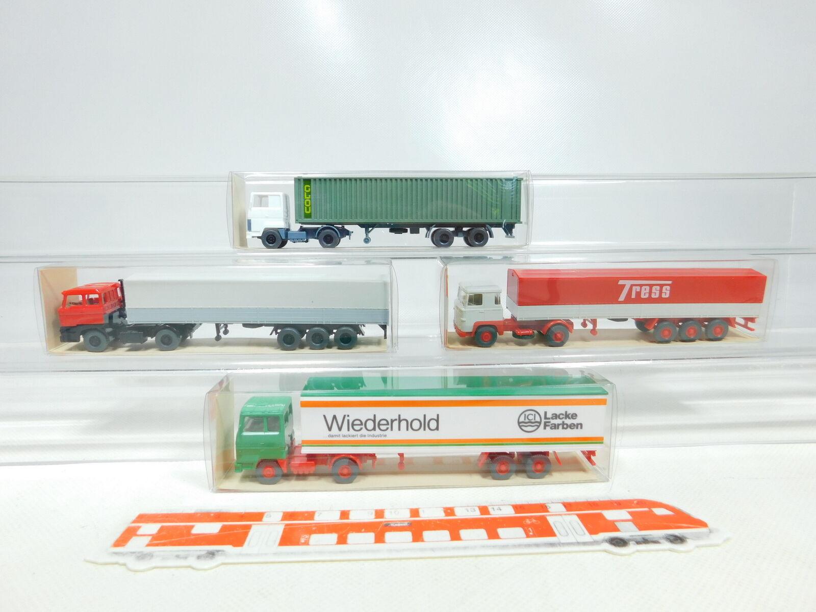 BX402-0,5  4x Wiking 1 87 H0 LKW  540 523 Ford + 533 Scania + 555 DAF, NEUW+OVP