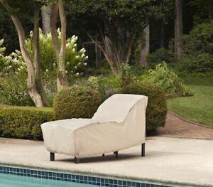 Chaise Garden Treasures Tan Outdoor Lounge Chair Slip