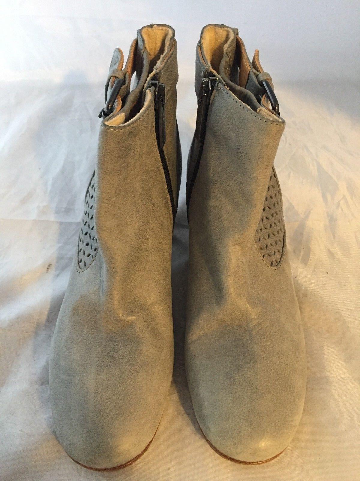 Nuevo corte Aquatalia Francie gris Cuero Bota al tobillo de corte Nuevo láser, De mujer tamaño 5, 450   69cf48