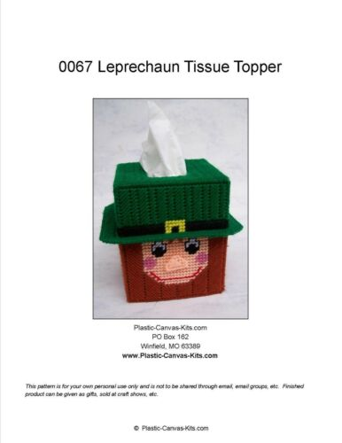 St Patrick/'s Day Leprechaun Tissue Topper-Plastic Canvas Pattern or Kit