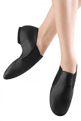 Ladies Shoes 3-14 NEW So Danca Split Sole Jazz Slip On Black Leather Bootee