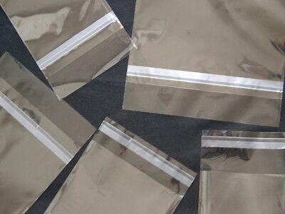 100 5x7 1.5 Clear Self Seal Lip & Tape Plastic Bags Cello OPP Polypropylene