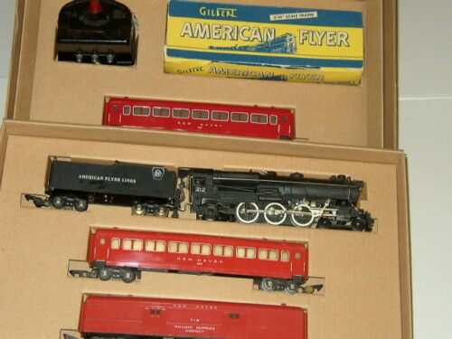 AMERICAN FLYER SET BOX & INSERTS ONLY for STEAM ENGINE+ PASSENGER CARS NO TRAINS