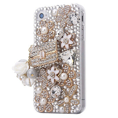 FOR APPLE iPHONE 6 5 4 LUXURY 3D CRYSTAL DIAMOND CASE BLING DIAMANTE HARD COVER