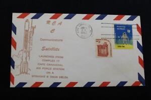 Space-Cover-1982-Macchina-Cancel-Rca-Satcom-C-Communications-Sat-Launch-1040