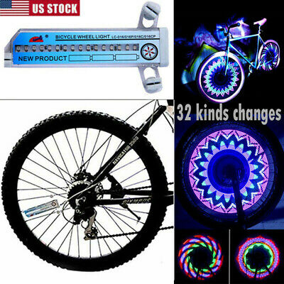 1-6x Bike Bicycle Cycling Wheel Spoke Tire LED Light Lamp Night Waterproof USA