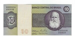 10-Cruzeiros-Bresil-Replacement-UNC-1980-c141a-p-193e-Brazil-Star-banknote