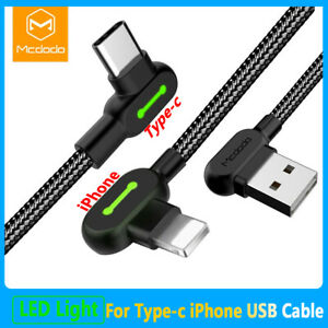 MCDODO 90 Degree L Shape Charger USB Cable/Type_C Cable 1.2m/1.8m/3m