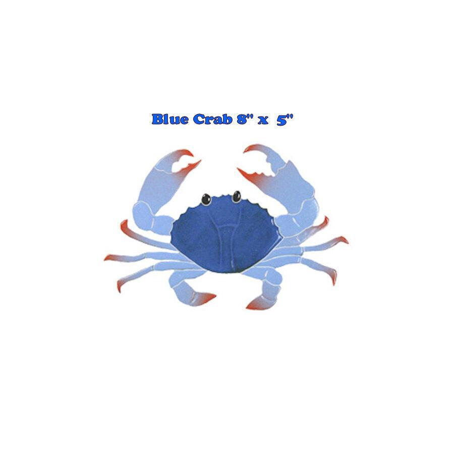 Crabe 8  Bleu Mosaïque voiturerelage Piscine Bain Mur Table bar terrasse Walk Way Art