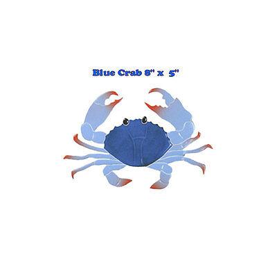 "Crab 16/"" Blue Mosaic Tile swimming pool Bath wall table bar patio walk way art"