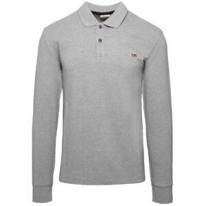 Napapijri-Taly-2-Long-Sleeve-Polo-Shirt-Pullover-Sweater-Grey-N0YIX7160
