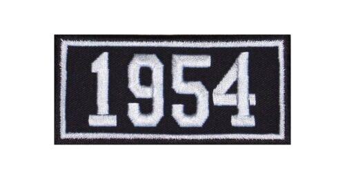 1954 Biker Patches Écusson Année Année De Naissance Birth Year Rocker Moto MC