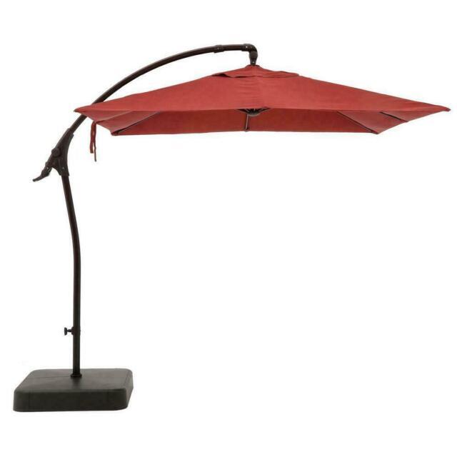 Hampton Bay 8 Ft Offset Patio Umbrella, Cantilever Patio Umbrella Cover