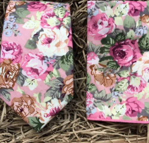 Pocket Square Blush Pink Tie Ties For Men Floral Wedding Ties Bow Tie UK
