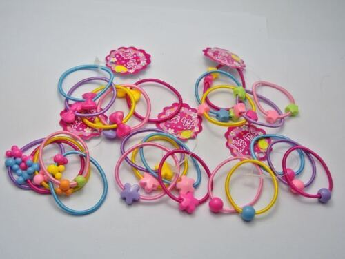 50 Pcs Assorted Elastic Rubber Hair Rope Band Ponytail Holder for Kids Girl