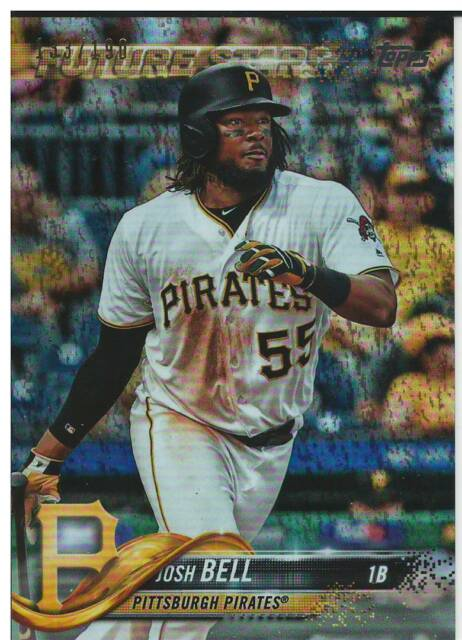 2018 Topps Factory Set Foilboard Sparkle Josh Bell #611 Pirates #133/190