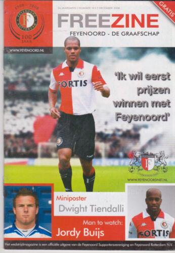 Programma Feyenoord Rotterdam v De Graafschap Doetinchem 07-12-2008 Programme