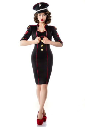 look 50er jurk Gr militaire L Bolero jasje Militaire met jas nSp8wdX