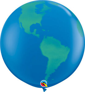 2-x-LARGE-PLANET-EARTH-BALLOONS-3ft-91cm-QUALATEX-BALLOONS-TWO-BALLOONS