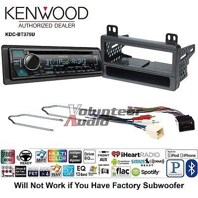 Kenwood KDC-BT375U Car Stereo Radio Bluetooth CD Dash ... on kenwood radio wiring, kenwood model kdc-2025 wiring-diagram, kenwood kdc mp145 wiring-diagram cd player,