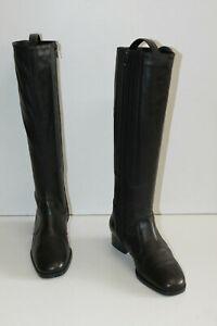JEAN-THIOT-Bottes-Cuir-Lisse-Noir-Doublees-Cuir-Elastiquees-T-33-TBE