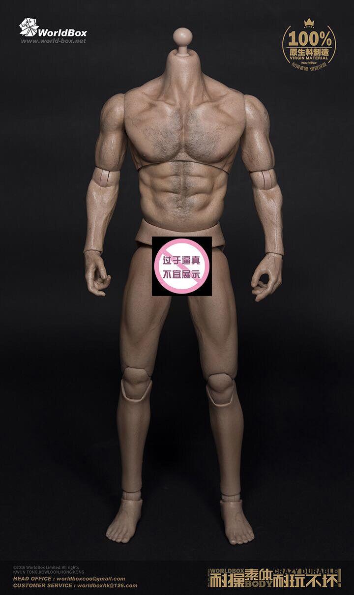 1 6 escala WorldBox AT012 Wolverine Ancho Hombro muscular 12  Figura Cuerpo Nuevo
