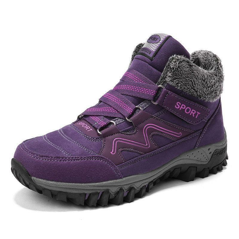 Womens Mens Outdoor Snow Sneakers Winter Warm Boots Sports Hiking Couples shoes