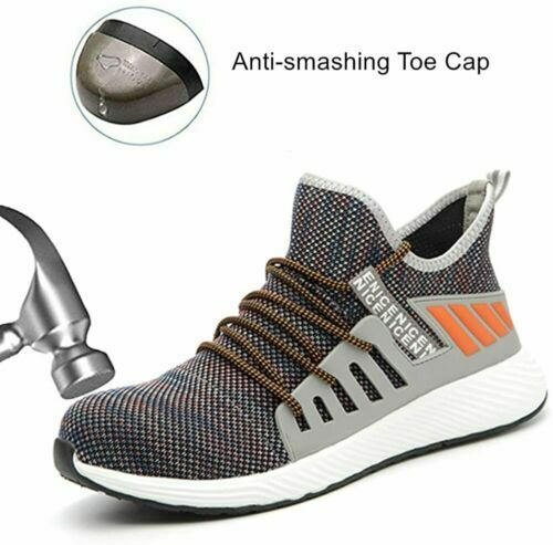 Mens Womens Lightweight Safety Shoes Steel Toe Cap Work Boots Trainers Shoes PPE