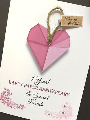 Anniversario Di Matrimonio Materiali.Hand Made Personalizzata Anniversario Di Matrimonio Card Materiale