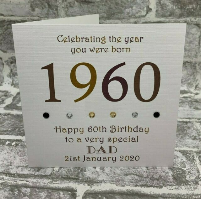 Handmade Birthday Card Dad Husband Son Grandad 21st 30th 40th 50th 60th 70th 80t