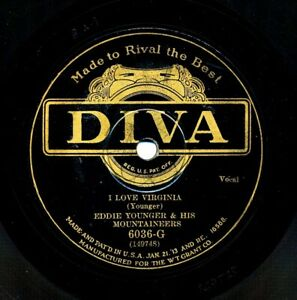 EDDIE YOUNGER and his MOUNTAINEERS on 1930 Diva 6036-G - I Love Virginia