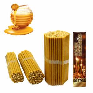 100-X-Bienenwachs-Kirchliche-Kerzen-Honig