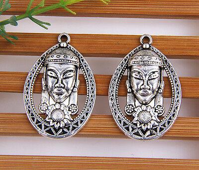 wholesale 10pcs/20pcs/52pcs zinc alloy Buddha pendants 34x22mm 1A1576