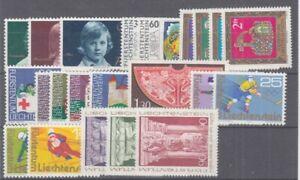 Liechtenstein-Vintage-1975-Kplt-MNH