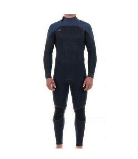 O'NEILL Men's 4 3 PSYCHO ONE Zen-Zip Wetsuit - BLK SLATE - Medium - NWT