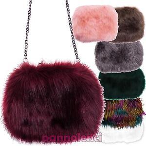 Women-039-s-handbag-handbag-shoulder-strap-handbag-hair-fur-ecological-new-PO-15