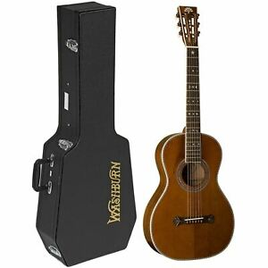 Washburn-R314KK-Vintage-Series-Parlor-Acoustic-Guitar-w-Hardshell-Case-Natural