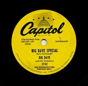 BIG-DAVE-Cavanaugh-and-his-Orch-on-1954-Capitol-2742-Promo-Big-Dave-Special